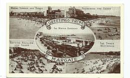 Kent Margate Multiview Postcard Rp - Margate