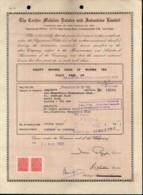 India 1991's Cochin Malabar Estates Industy Ltd Share Certificate+Revenue # FA15 - Industry