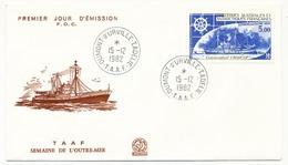 TAAF - Enveloppe FDC - 5,00 Semaine De L'Outre-mer - Dumont Durville Terre Adélie - 15-12-1982 - FDC