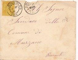 Lettre Sage Brignoles Var Pour Murzano - Postmark Collection (Covers)