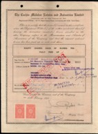 India 1980's Cochin Malabar Estates Industy Ltd Share Certificate Revenue # FA16 - Industry
