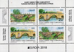 Northern Cyprus - 2018 - Europa CEPT  - Bridges - Mint Souvenir Sheet - Cyprus (Turkije)