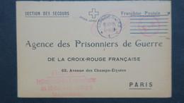 Carte En FM Du Camp De Magdeburg Saxe Pour Agence Prisonniers De Guerre Paris 1915 - Storia Postale