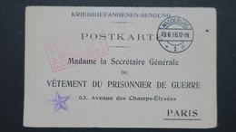 Carte En FM Du Camp De Magdeburg Pour Bonne Réception Du Colis Juin 1916 - Storia Postale