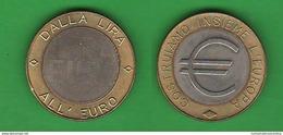 Precursori Euro Gettone / Token DALLA LIRA ALL' EURO - Abarten Und Kuriositäten