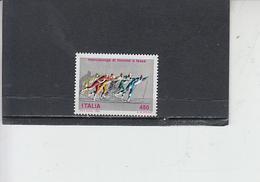 ITALIA  1986 - Sassone 1751** -  Sport - Marcialonga - Inverno