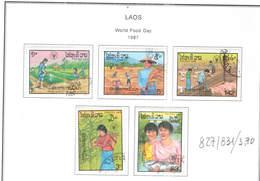 Laos PO 1987 Giornata Del Cibo     Scott.827/831 See Scan On Scott.Page; - Laos