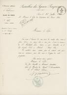 Paris 1864 Bataillon Des Sapeurs-Pompiers Place De Paris Sapeur Natif De Moosch Haut-Rhin - Documents Historiques