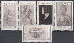 ALBANIA 1346-1350,unused,Leonardo Da Vinci - Albanie