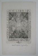 """Ex-libris Illustré Italie XXème - GIORGIO BALBI Par Alberto Helios GAGLIARDO -""""POESIA BELLEZZA DELLE PICCOLE COSE"""" - Ex-libris"""