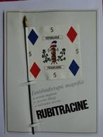 """MILITARIA DRAPEAU ÉTENDARD ORIFLAMME  """" NAVARRE 5 EME D'INFANTERIE """" SÉRIE RUBITRACINE HISTOIRE DRAPEAUX N° 3 - Flags"""