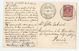 Cachet 1912 Torino, Direzione Superiore. Carte Torino, Stazione Centrale Di P. N. (A5p55) - Affrancature Meccaniche Rosse (EMA)