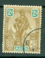Malta: 1922/26   Emblem     SG128   2d     Used - Malta (...-1964)