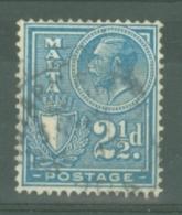 Malta: 1926/27   KGV (inscr. 'Postage')     SG162   2½d     Used - Malta (...-1964)