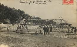 CARTE PHOTO SAINT LAURENT DU VAR - PASSERELLE LETHENS - Camp Militaire - Saint-Laurent-du-Var