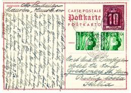1938 10Rp. Ganzsache Mit Zusatzfrankatur Aus Mauren Nach Gressoney St. Jean Italien - Entiers Postaux