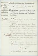 Napoléon En Notre Camp Impérial De Schoenbrunn 1809 Avec Empreinte à Sec - Historical Documents