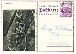 1937 10Rp. Bildkarte Stempel Mauren Nach Einsiedeln - Entiers Postaux