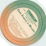 CARTE STOBOSCOPIQUE DE LA GUILDE EUROPEENNE DU MICROSILLON /pour Vérifier La Vitesse De Rotation De Votre Tourne Disques - Vinyl Records