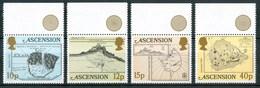 1981 Ascensione Isole Isle Mappe Cartes Maps Set + Block MNH** No135 - Ascensione