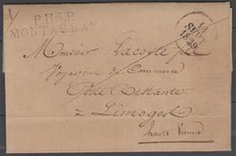 Tarn Et Garonne:  P.115.P./MONTAUBAN Sur LAC De 1829 Pour Un Voyageur De Commerce En Poste Restante - Marcophilie (Lettres)