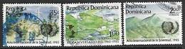 Dominican Republic   1985  Sc#943-4, 947  Used  2016 Scott Value $5 - Dominican Republic