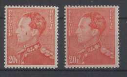 435** Et 435a** Gomme Blanche Et Gomme Jaune Sans Charnière (pas De Trace Sur Le Timbre) - 1936-51 Poortman