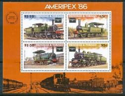 1986 Trinitad & TobagoTreni Railways Locomotive Locomotives Block  MNH** No135 - Trindad & Tobago (1962-...)