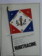 """MILITARIA DRAPEAU ÉTENDARD ORIFLAMME  """" ANJOU 35 EME RÉGIMENT INFANTERIE """" SÉRIE RUBITRACINE HISTOIRE DRAPEAUX N° 6 - Drapeaux"""