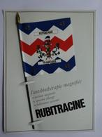 """MILITARIA DRAPEAU ÉTENDARD ORIFLAMME  """" ROYAL DES VAISSEAUX 43 EME R.I. """" SÉRIE RUBITRACINE HISTOIRE DRAPEAUX N° 9 - Flags"""