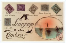 CPM - Format 9 X 14 - édit. Musée De La Poste - LANGAGE DES TIMBRES - Sellos (representaciones)