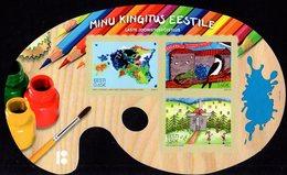 Estonia - 2018 - My Gift To Estonia - Children's Drawing - Mint Self-adhesive Souvenir Sheet - Estonia