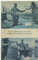 """AK """"Feldgraue Beim Räuchern Von Heringen"""" 1916 - Guerra 1914-18"""