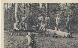 """AK """"Holzfäller Hinter Der Front"""" 1916 - Weltkrieg 1914-18"""