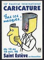 ILLUSTRATEUR PIEM //  13 EME FESTIVAL INTERNATIONAL  CARICATURE ST ESTEVE EN 1998 - Piem
