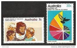 AUSTRALIA 1972 - Christmas / Jesus / Dove And Spectrum Motif - SALE 2v Mi 511-12 ** MNH Neuf Cv€8,50 K115 - 1966-79 Elizabeth II