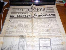 Journal Le Binchois 14/2/1948 Edition Du Carnaval De Binche Etat Correct - Kranten