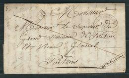 FRANCE 1834 Marque Postale En PP De Bressuire - Marcofilia (sobres)