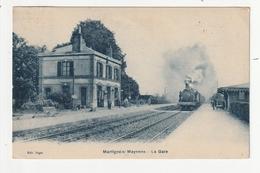 MARTIGNE - LA GARE - TRAIN - 53 - France