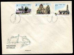 Cuba - Enveloppe FDC 1967 - Monuments - O85 - FDC