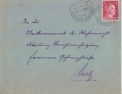 Lettre De Schalbach (T 334 Schalbach A über Saarburg Westmark) TP Reich 12pf=1°éch Le 16/1/53 (erreur) - Postmark Collection (Covers)