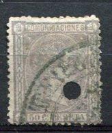 1876 - Yv. N° 159   ANNULE Et Oblitéré   50c  Gris-violet  Alphonse XII    Cote  3  Euro  BE R 2 Scans - 1875-1882 Kingdom: Alphonse XII