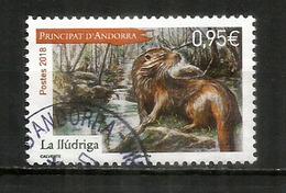 ANDORRA. La Loutre Des Pyrénées, Année 2018, Oblitéré 1 ère Qualité - Stamps