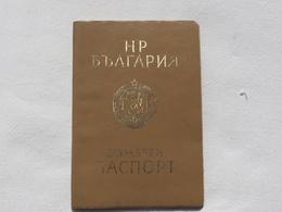 Passeport Service BULGARIE 1984 Romania DDR  Visas    Passeport Reisepass Pasaporte Border Stamp   A 182 - Historical Documents