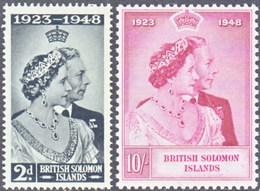 Salomon 0073/74 ** MNH. 1948 - Solomon Islands (1978-...)