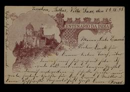 Architecture Postal Stationery (INDIA CENTENARY) Used Portugal BELLAS Real Chateaux PENA Sintra Ville Castles 1898 #9779 - Châteaux