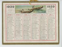 CALENDRIER ANNÉE 1939 - Format 14,3X10,8 Cm - Impr. OLLER à Paris Puteaux - Calendriers