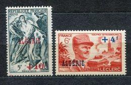 8878 ALGERIE  N°266,272 ** Résistance Et Général Leclerc    1947/49    TB - Ungebraucht