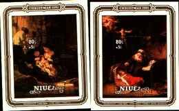 72318) NIUE - NATALE 1981-QUADRI DI REMBRANDT-BF-52-53-54-55 - MNH** - Niue