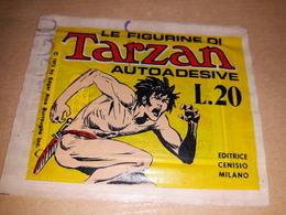 Tarzan Bustina Edizione Omaggio Con FigurineTarza Edi Cenisio - Adesivi